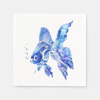 Guardanapo De Papel O azul azul do aquário do animal de estimação do