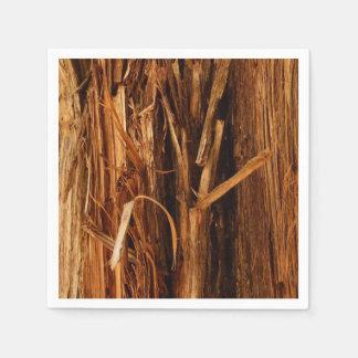 Guardanapo De Papel O cedro Textured o olhar de madeira do latido