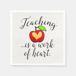 Guardanapo De Papel O ensino é um trabalho da apreciação do professor