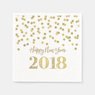 Guardanapo De Papel O feliz ano novo 2018 dos confetes do brilho do