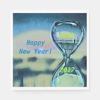 Guardanapo De Papel O feliz ano novo moderno 2018 da ampulheta