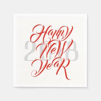 Guardanapo De Papel O feliz ano novo - roteiro vermelho corajoso & ano