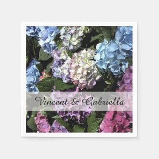 Guardanapo De Papel O Hydrangea colorido floresce o casamento