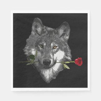 Guardanapo De Papel O lobo aumentou