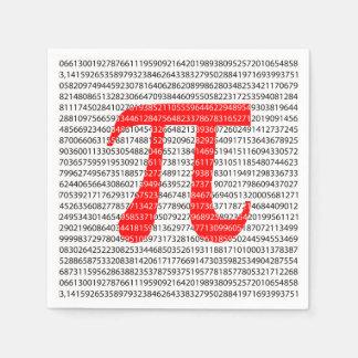 Guardanapo De Papel O número vermelho pi é um símbolo da constante