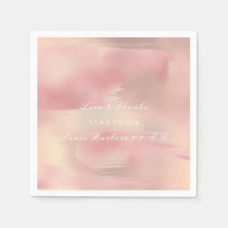 Guardanapo De Papel O ouro cor-de-rosa de pintura Ombre cora o nome