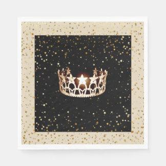 Guardanapo De Papel O ouro da coroa do ouro da senhorita EUA Stars o