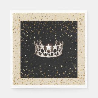 Guardanapo De Papel O ouro de prata da coroa da senhorita EUA Stars o