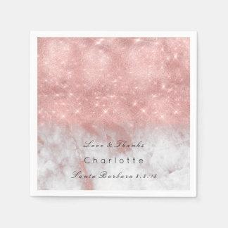 Guardanapo De Papel O ouro do rosa do rosa cora o Lux de mármore