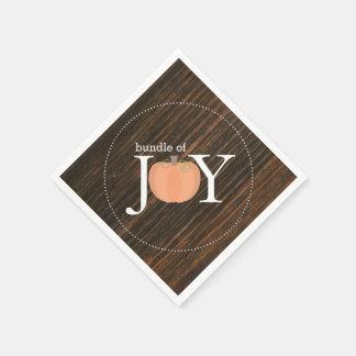 Guardanapo De Papel O pacote de madeira da alegria inspirou o chá de