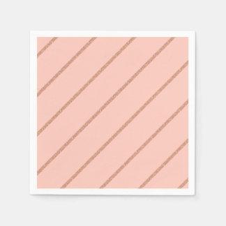 Guardanapo De Papel o pêssego pastel do brilho cor-de-rosa do ouro
