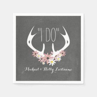 Guardanapo De Papel O quadro floral dos Antlers inspirou o casamento