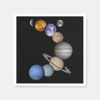 Guardanapo De Papel O sistema solar