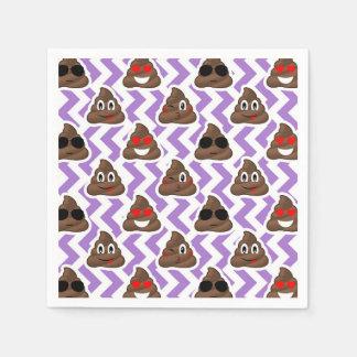 Guardanapo De Papel O Zig roxo Zagged teste padrão de Emoji do