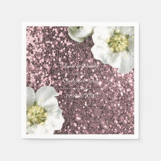 Guardanapo De Papel Obrigado cor-de-rosa do jasmim do rosa do ouro