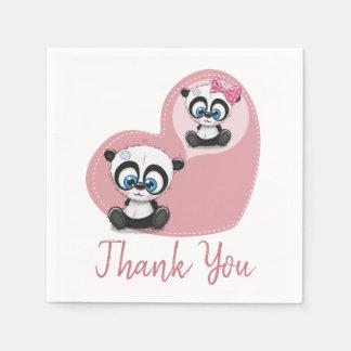 Guardanapo De Papel Obrigado cor-de-rosa você festa de casamento do