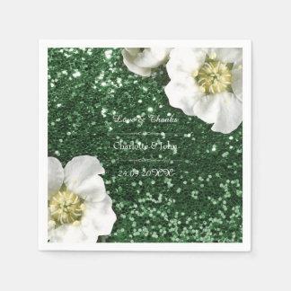 Guardanapo De Papel Obrigado verde floral do jasmim de Cali você