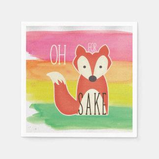 Guardanapo De Papel Oh para listras da aguarela da causa do Fox