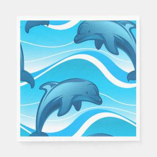 Guardanapo De Papel Ondas de salto do golfinho