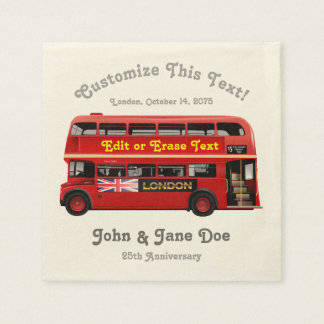 Guardanapo De Papel Ônibus vermelho de Londres temático