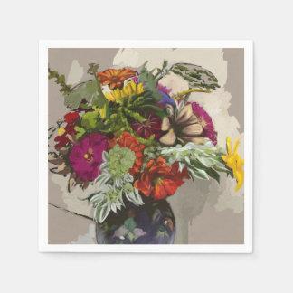 Guardanapo de papel original de arte da flor