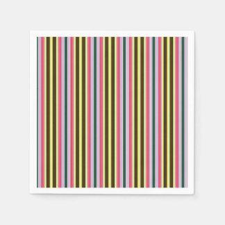 Guardanapo De Papel Os anos 70 StripesPattern colorido do vintage