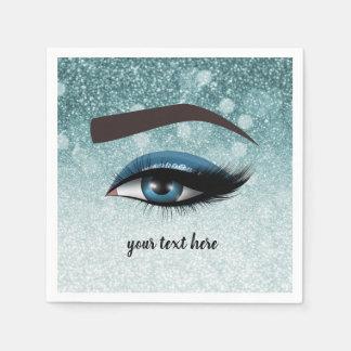 Guardanapo De Papel Os chicotes glam azuis eyes o maquilhador de |