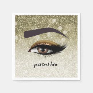 Guardanapo De Papel Os chicotes glam de Brown eyes o maquilhador de |