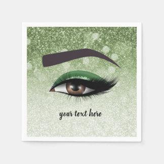 Guardanapo De Papel Os chicotes glam verdes eyes o maquilhador de |
