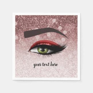 Guardanapo De Papel Os chicotes glam vermelhos eyes o maquilhador de |