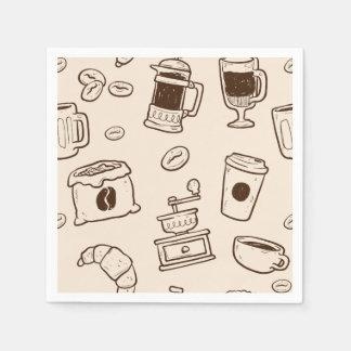 Guardanapo De Papel Os feijões de café de Brown ilustraram o teste