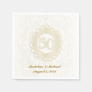 Guardanapo De Papel Ouro, 50th aniversário