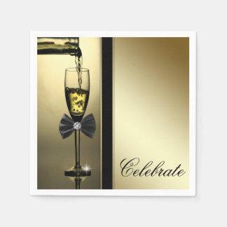 Guardanapo De Papel Ouro elegante Champagne