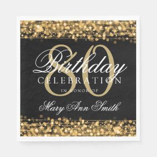Guardanapo De Papel Ouro elegante dos Sparkles da festa de aniversário
