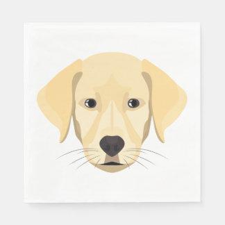 Guardanapo De Papel Ouro Retriver do filhote de cachorro da ilustração