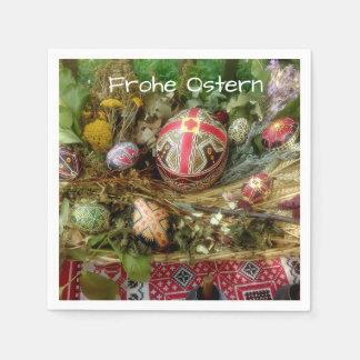 Guardanapo De Papel Ovos da páscoa pintados mão Ostern