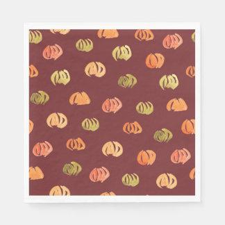Guardanapo de papel padrão do almoço da abóbora