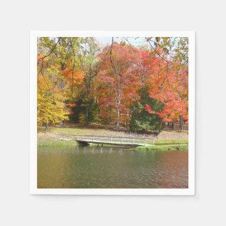 Guardanapo De Papel Paisagem do outono da ponte III da queda de sete