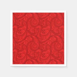 Guardanapo De Papel Paisley vermelho
