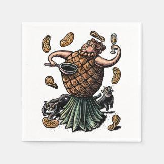 Guardanapo De Papel Panquecas do fazer do cozinheiro chefe do abacaxi