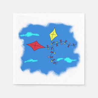 Guardanapo De Papel Papagaios no céu azul