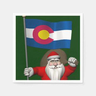 Guardanapo De Papel Papai Noel com a bandeira de Colorado