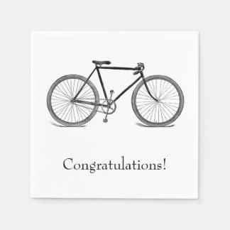 Guardanapo De Papel Parabéns da bicicleta do vintage