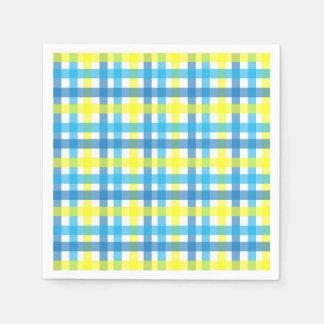 Guardanapo De Papel Partido azul e amarelo legal das listras