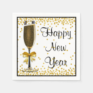 Guardanapo De Papel Partido da véspera do feliz ano novo de Champagne