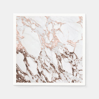 Guardanapo De Papel Partido de mármore cinzento branco metálico do