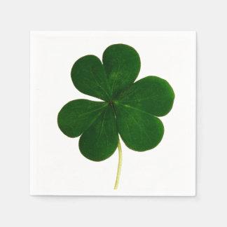 Guardanapo De Papel Partido de St Patrick da fotografia do trevo do