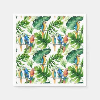 Guardanapo De Papel Partido tropical verde do verão das folhas & dos
