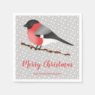 Guardanapo De Papel Pássaro do inverno de Personalizable & texto do