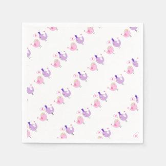 Guardanapo De Papel Pássaros formais do amor